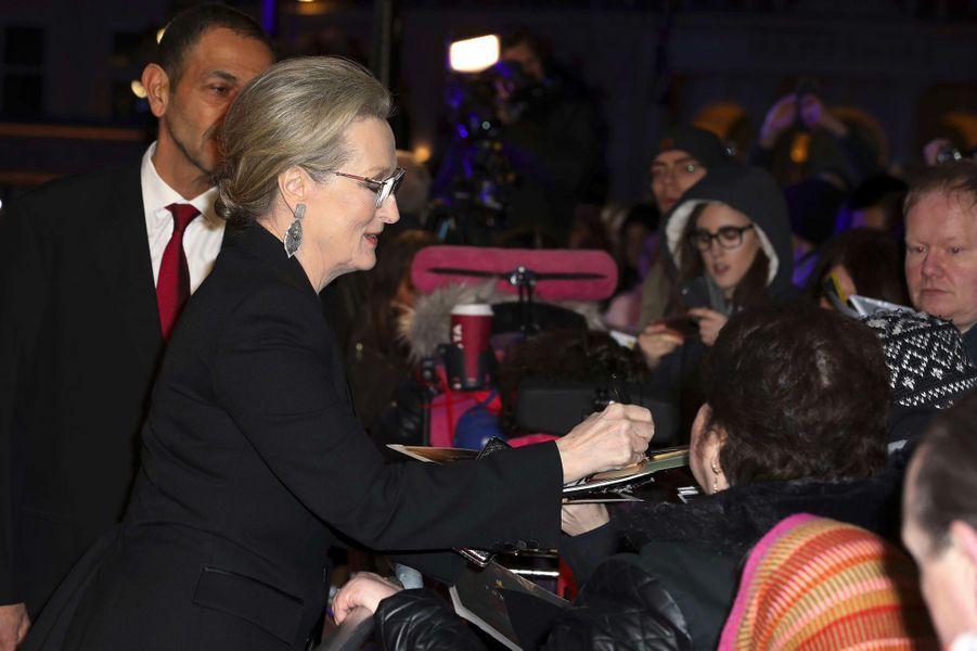 Meryl Streep à la première de «The Post» à Londres
