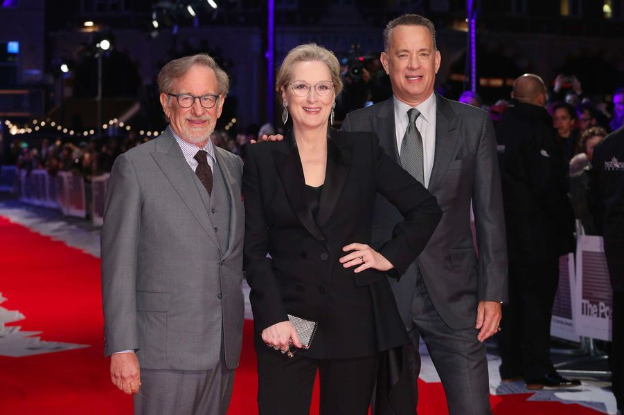 Meryl Streep, Tom Hanks et Steven Spielberg à la première de «The Post» à Londres
