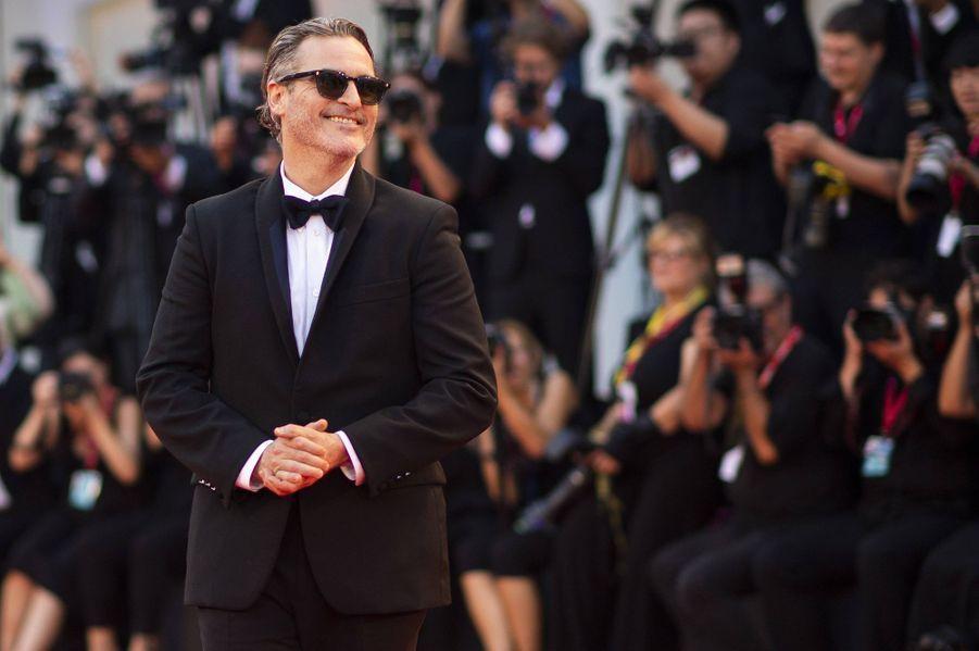 """Joaquin Phoenix à la 76e édition du festival international du film de Venise, pour le film """"Joker"""""""