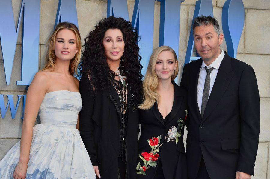 Lily James, Cher, Amanda Seyfried, Ol Parker
