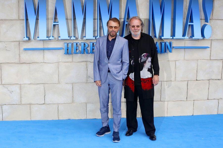Les stars du groupe suédois ABBA, Benny Andersson et Björn Ulvaeus