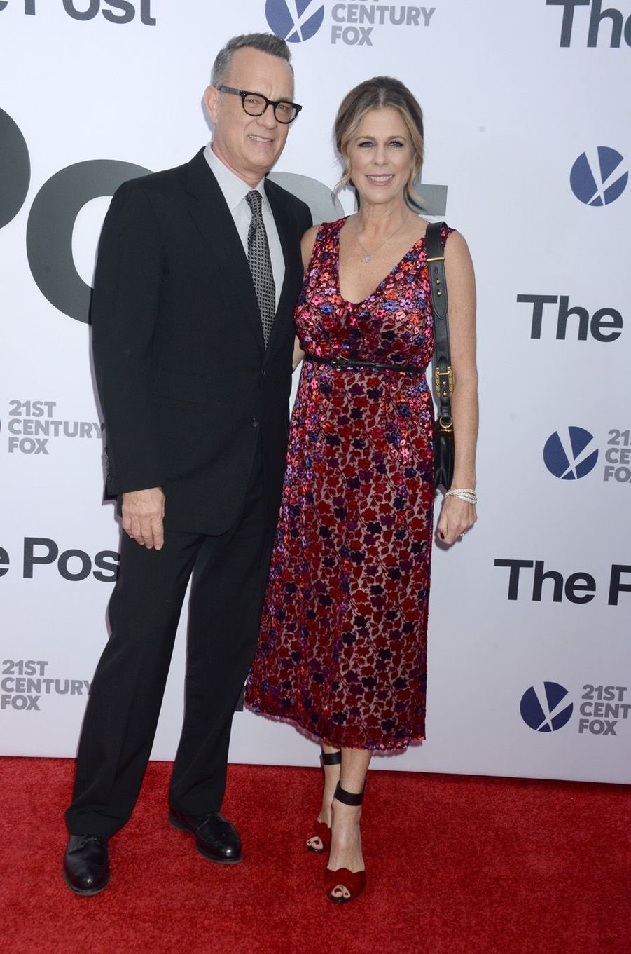 "Tom Hanks et Rita Wilson à l'avant-première de ""The Post"", le 14 décembre 2017 à Washington."
