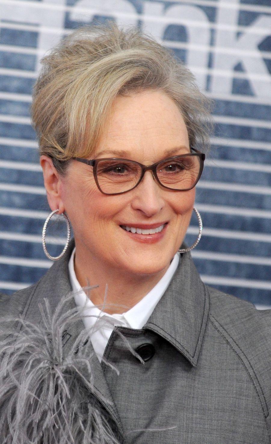 """Meryl Streepà l'avant-première de """"The Post"""", le 14 décembre 2017 à Washington."""