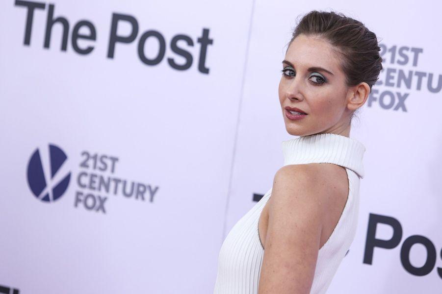 """Alison Brieà l'avant-première de """"The Post"""", le 14 décembre 2017 à Washington."""