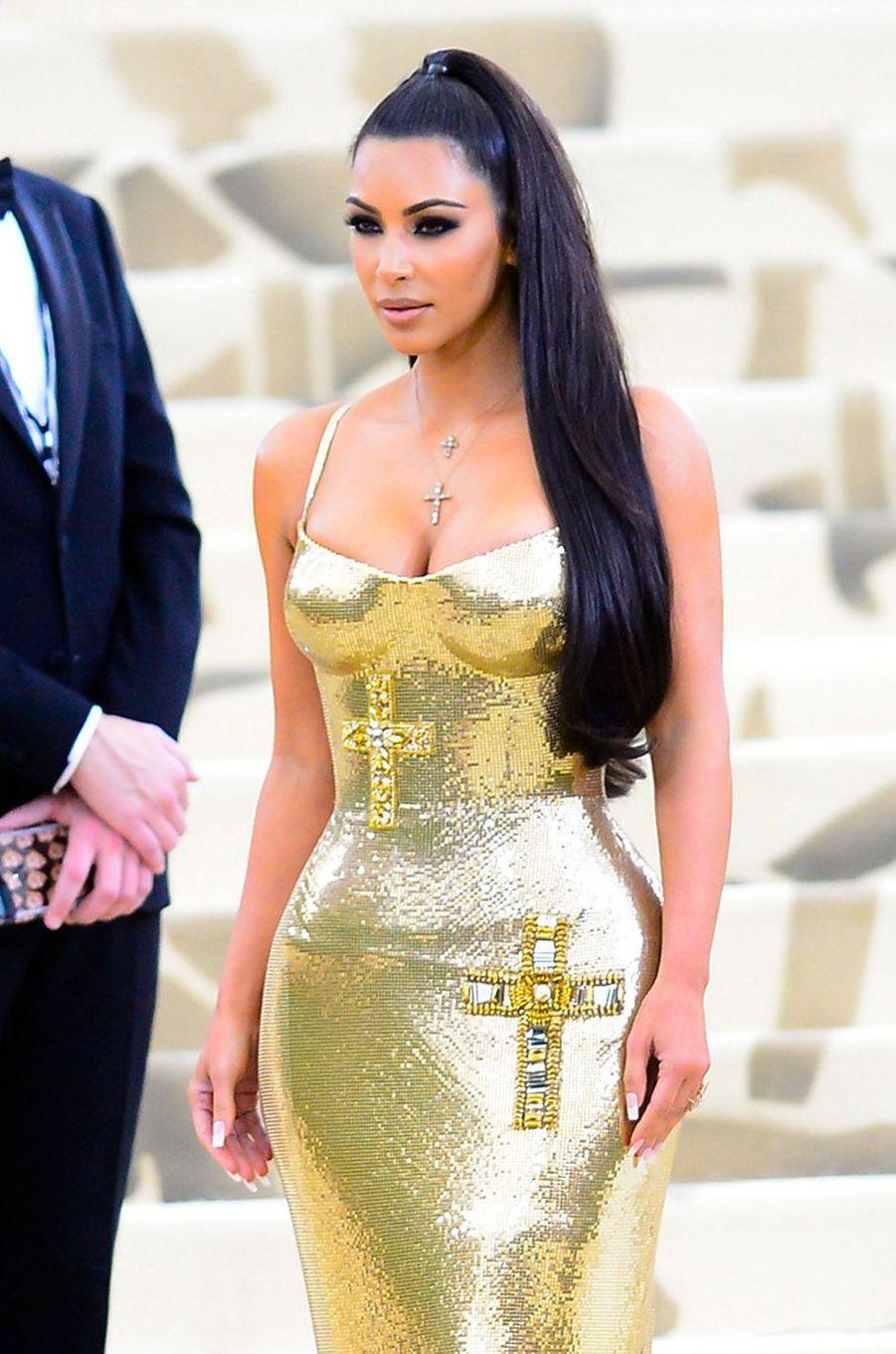 Kim Kardashian au Met Gala à New York, le 7 mai 2018.