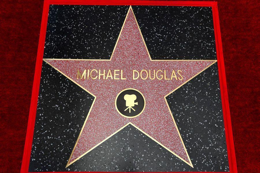 L'étoile de Michael Douglas sur Hollywood Boulevard le 6 novembre 2018