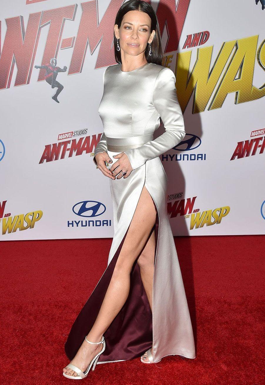 Evangeline Lillyà l'avant-première de«Ant-Man et la Guêpe» lundi