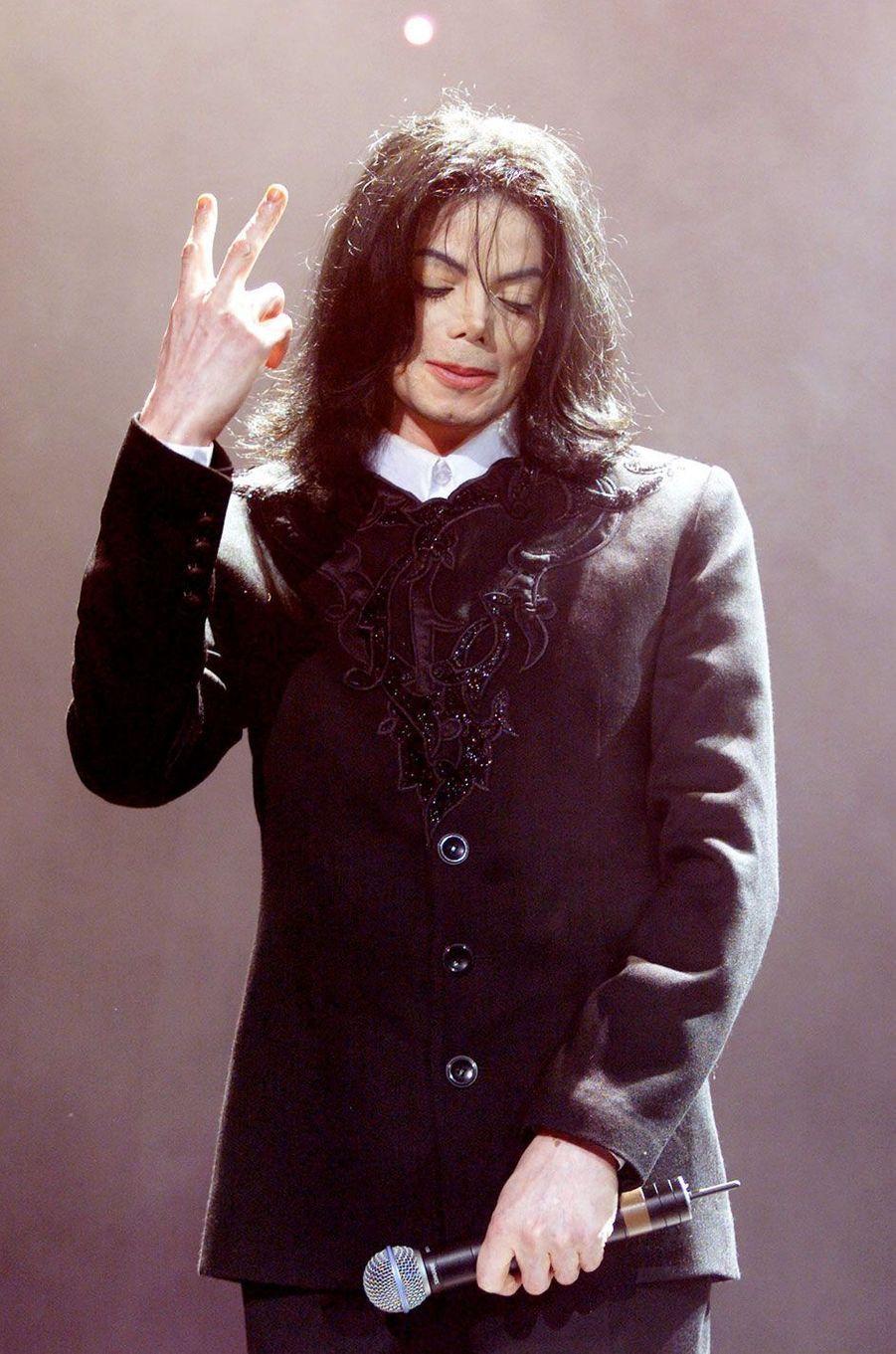 Michael Jackson en 2001.