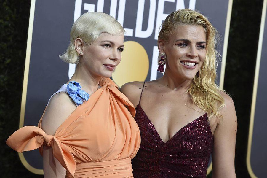 Michelle Williams et Busy Philippsà la 77e cérémonie des Golden Globes à Los Angeles le 5 janvier 2020