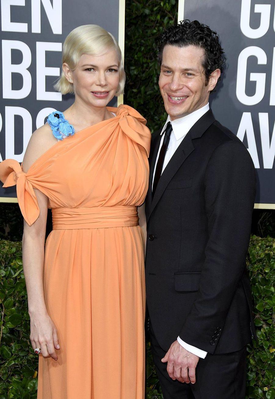 Michelle Williams et Thomas Kail à la 77e cérémonie des Golden Globes à Los Angeles le 5 janvier 2020