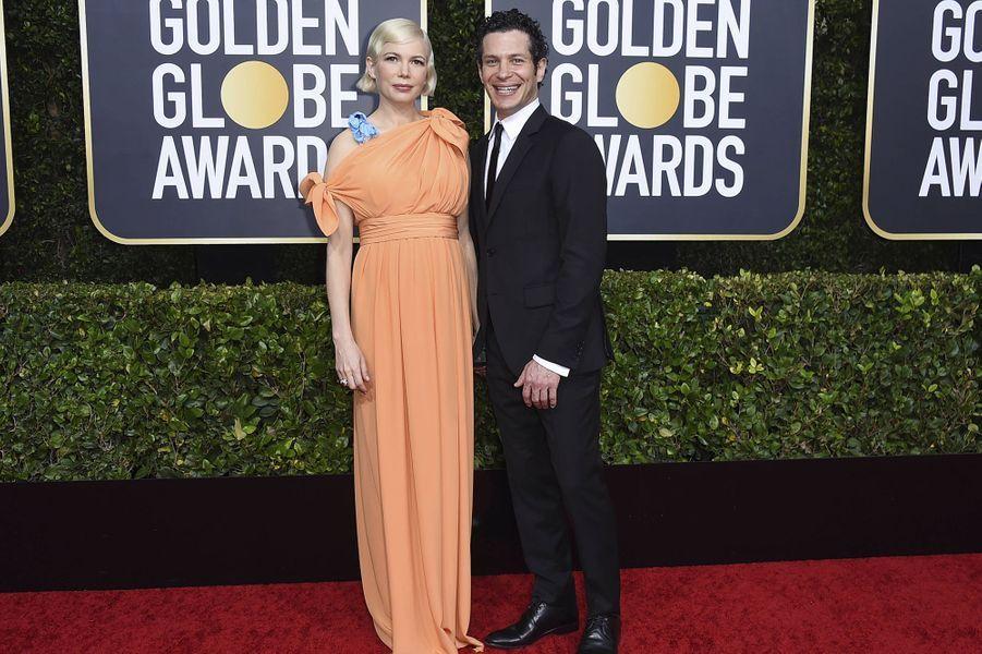 Michelle Williams et Thomas Kailà la 77e cérémonie des Golden Globes à Los Angeles le 5 janvier 2020