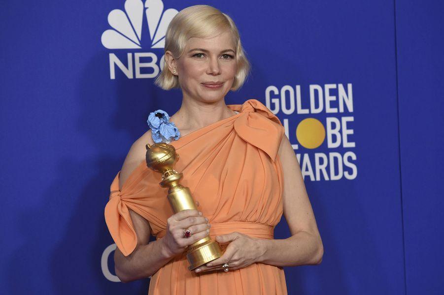 Michelle Williams (meilleure actrice dans un second rôle dans une série) à la 77e cérémonie des Golden Globes à Los Angeles le 5 janvier 2020