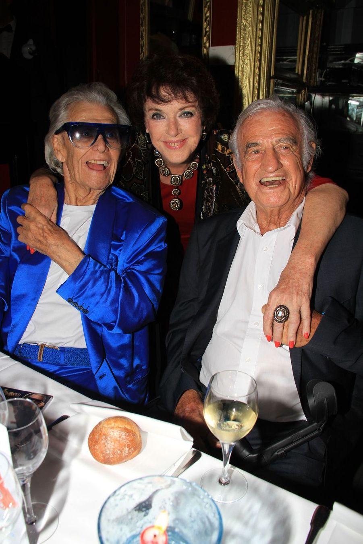 Michou, Anny Duperey et Jean-Paul Belmondo à Paris, le 18 juin 2019