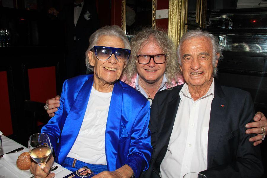 Michou, Pierre-Jean Chalençon et Jean-Paul Belmondo à Paris, le 18 juin 2019