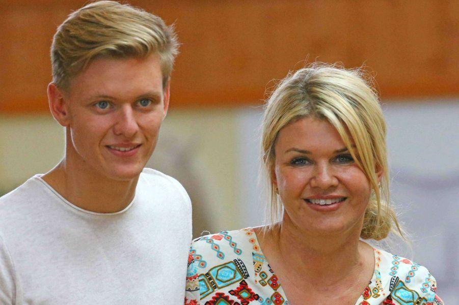 Mick et Corinna Schumacher à Givrins, le 11 août 2017.