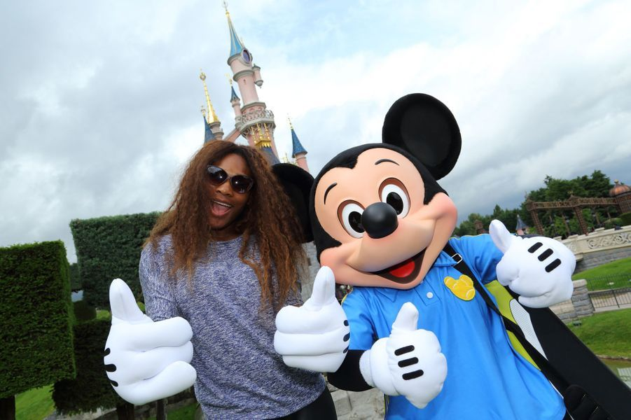 Serena Williams et Mickey.