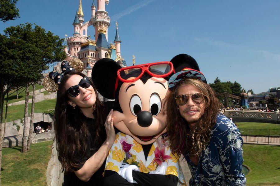 Liv Tyler, Steven Tyler et Mickey.