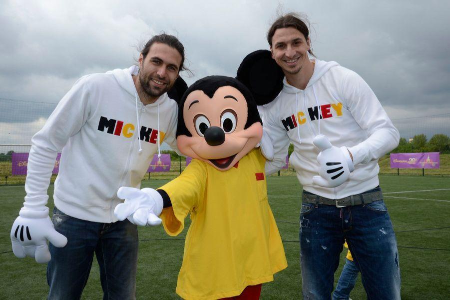 Zlatan Ibrahimovic et Mickey