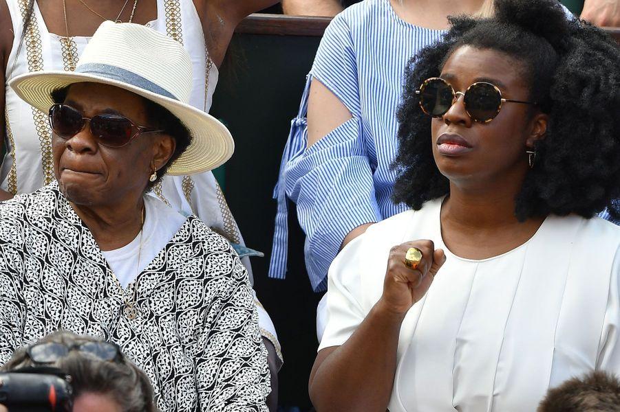 Uzo Aduba et sa maman à Roland-Garros, samedi 2 juin
