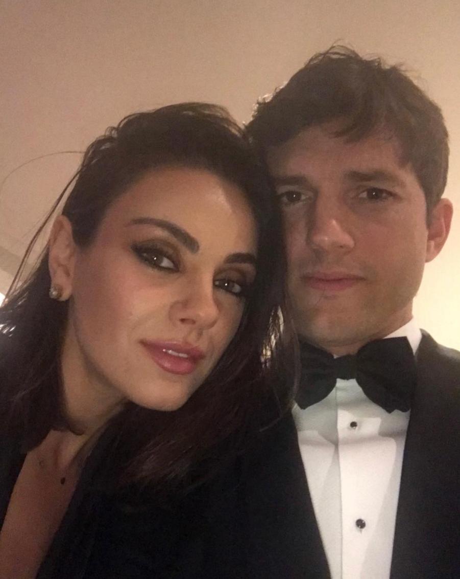 Mila Kunis et Ashton Kutcher en 2018.