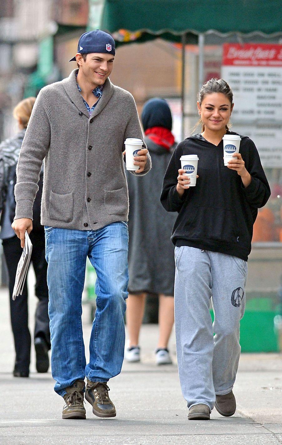 Mila Kunis et Ashton Kutcher en 2012.