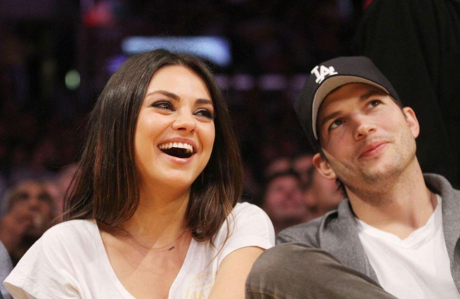 Mila Kunis et Ashton Kutcher en 2013.