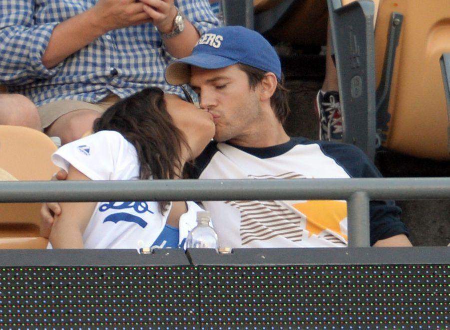 Mila Kunis et Ashton Kutcher en 2014.