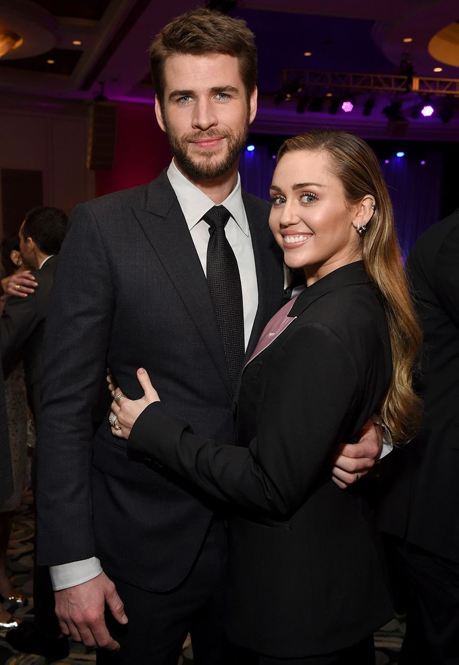 Miley Cyrus et Liam Hemsworth en février 2019