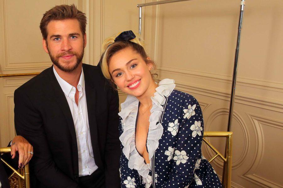 Miley Cyrus et Liam Hemsworth en 2016