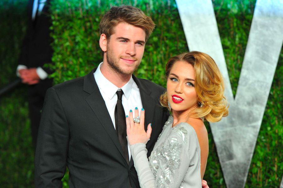 Miley Cyrus et Liam Hemsworth en 2012
