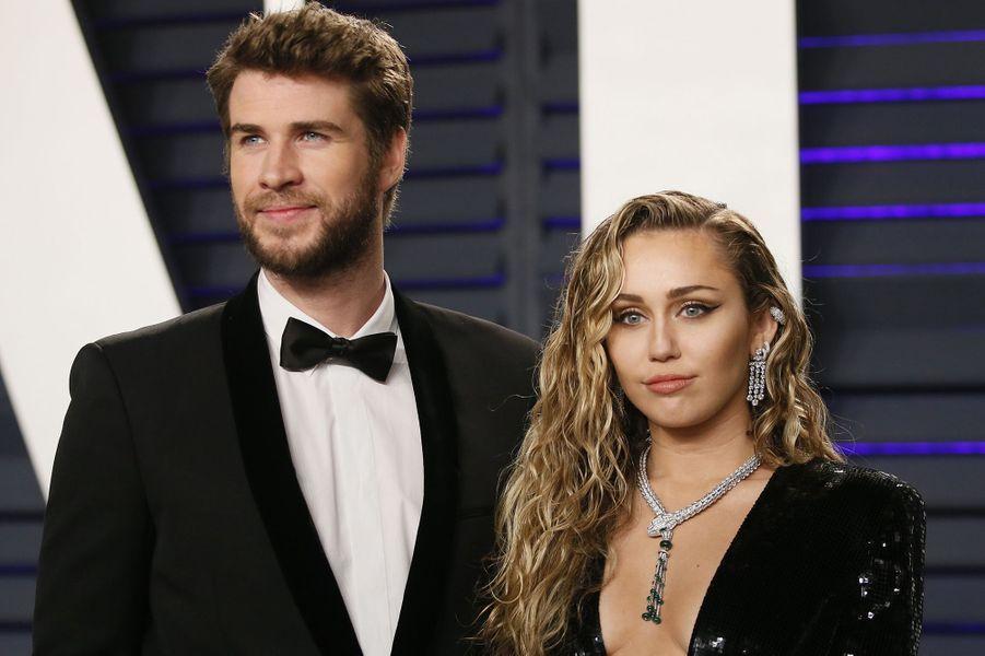 Miley Cyrus et Liam Hemsworth en janvier 2019