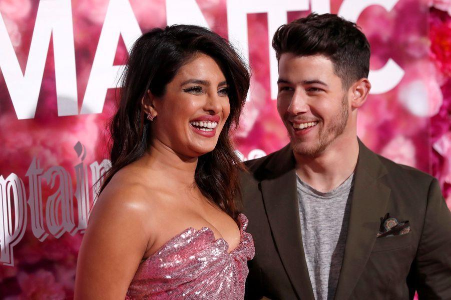 "Priyanka Chopra et Nick Jonasà l'avant-première du film ""Isn't It Romantic"" à Los Angeles le 11 février 2019"