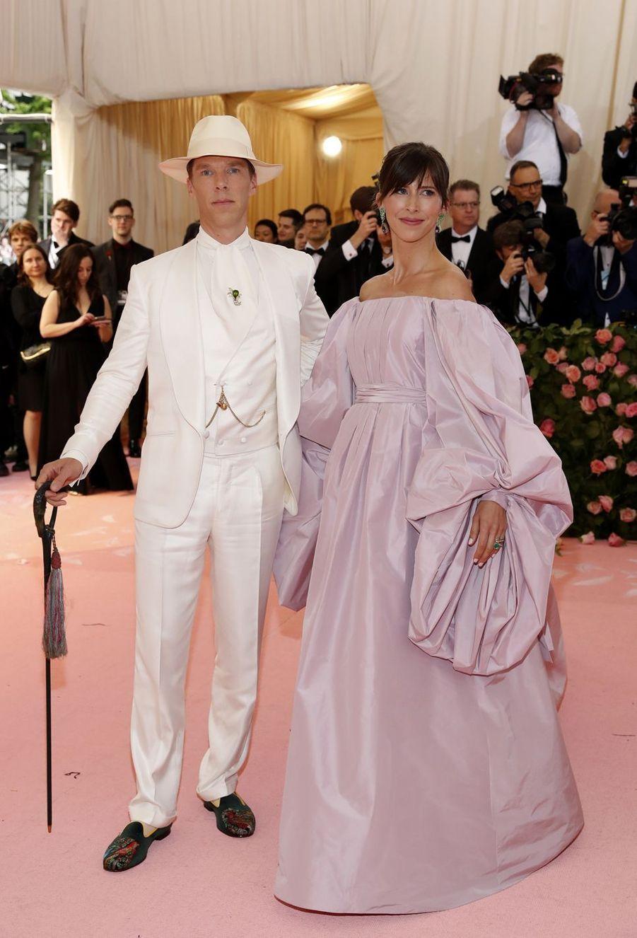 Benedict Cumberbatch et Sophie Hunterau MET Gala à New York le 6 mai 2019