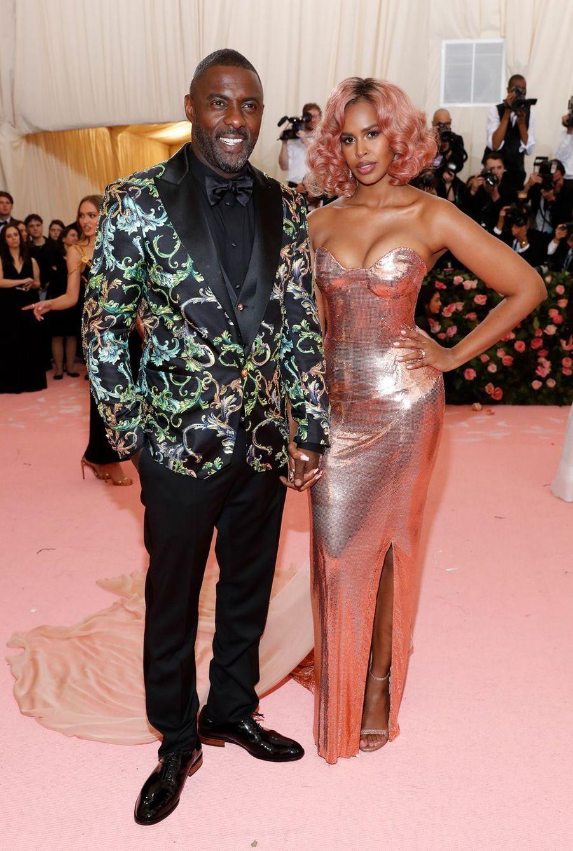 Idris Elba et Sabrina Dhowreau MET Gala à New York le 6 mai 2019