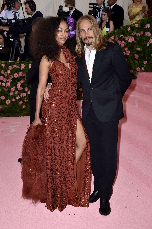 Zoe Saldana et Marco Peregoau MET Gala à New York le 6 mai 2019