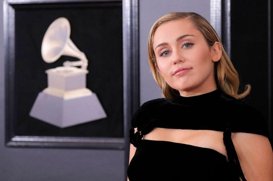 Miley Cyrus lors des Grammy Awards 2018.