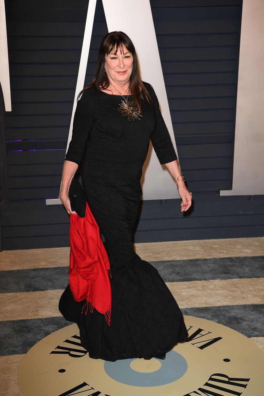 Anjelica Hustonà l'after-party des Oscars à Los Angeles le 24 février 2019
