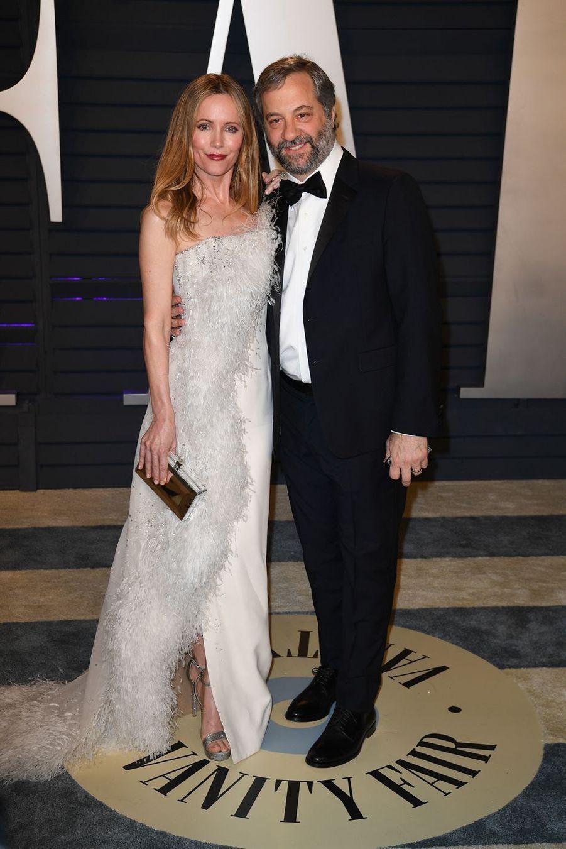 Leslie Mann et Judd Apatowà l'after-party des Oscars à Los Angeles le 24 février 2019