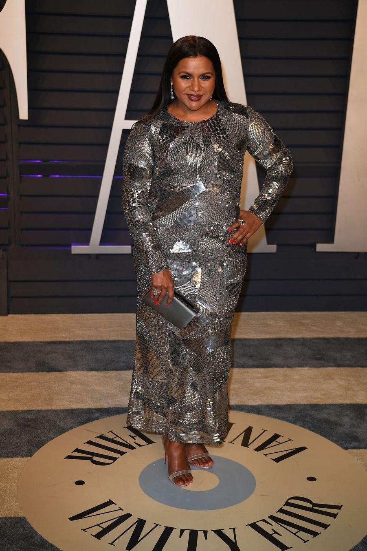 Mindy Kalingà l'after-party des Oscars à Los Angeles le 24 février 2019
