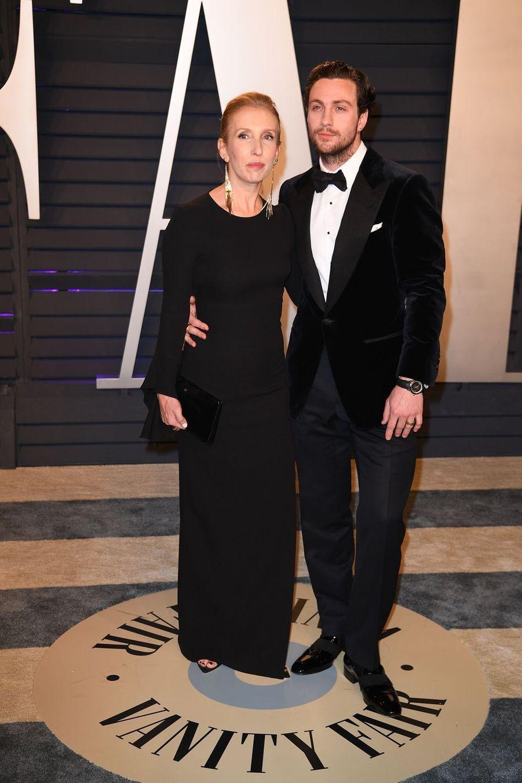 Sam et Aaron Taylor-Johnsonà l'after-party des Oscars à Los Angeles le 24 février 2019