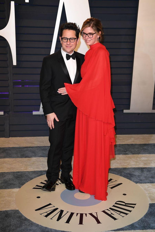 J.J. Abrams et Katie McGrathà l'after-party des Oscars à Los Angeles le 24 février 2019