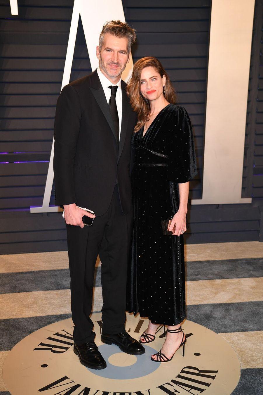 David Benioff et Amanda Peetà l'after-party des Oscars à Los Angeles le 24 février 2019
