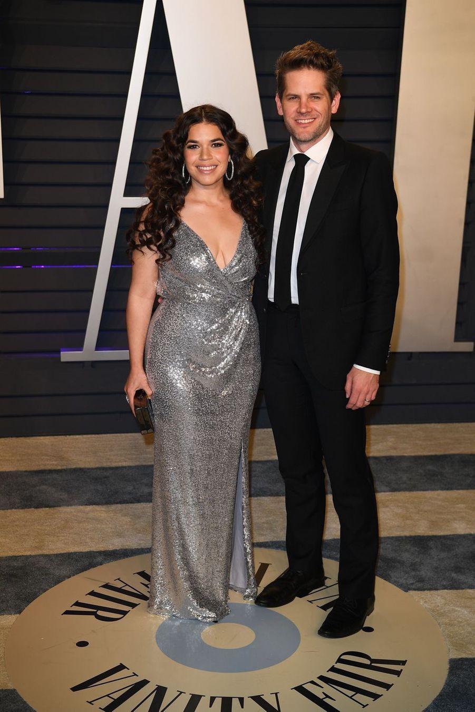 American Ferrera et Ryan Piers Williamsà l'after-party des Oscars à Los Angeles le 24 février 2019