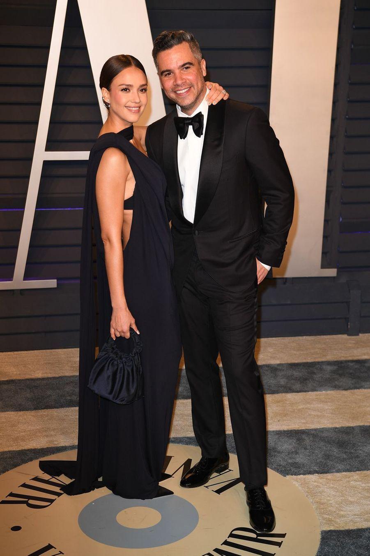 Jessica Alba et Cash Warrenà l'after-party des Oscars à Los Angeles le 24 février 2019