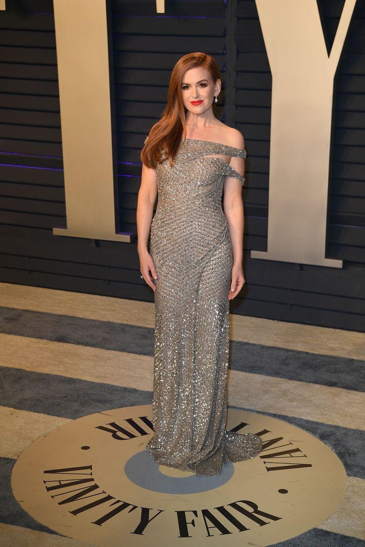 Isla Fisherà l'after-party des Oscars à Los Angeles le 24 février 2019