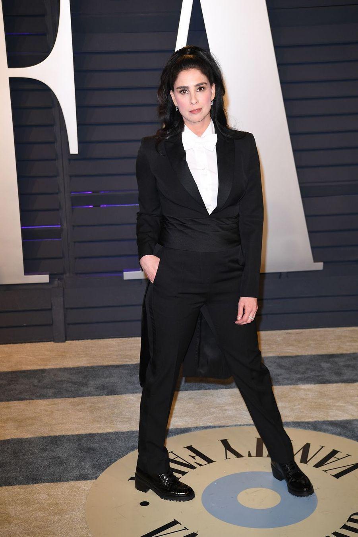 Sarah Silvermanà l'after-party des Oscars à Los Angeles le 24 février 2019