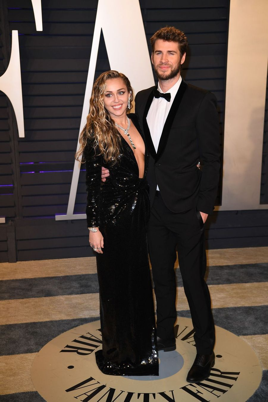 Miley Cyrus et Liam Hemsworth à l'after-party des Oscars à Los Angeles le 24 février 2019