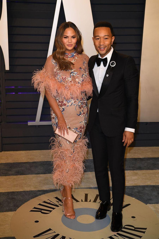 Chrissy Teigen et John Legendà l'after-party des Oscars à Los Angeles le 24 février 2019
