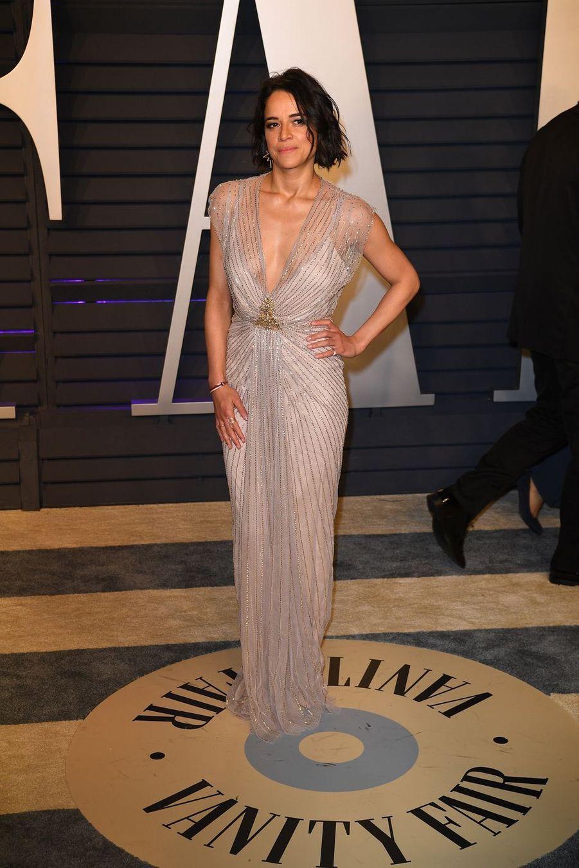 Michelle Rodriguezà l'after-party des Oscars à Los Angeles le 24 février 2019
