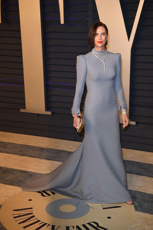 Charlize Theronà l'after-party des Oscars à Los Angeles le 24 février 2019